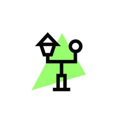 park icon logo vector image