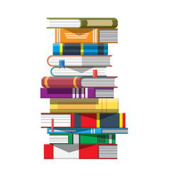 pile books vector image