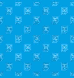 Print studio pattern seamless blue vector
