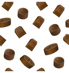 Realistic chocolate candy pattern vector