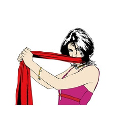 Red scarf vector