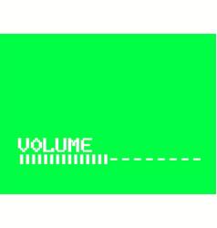 Retro tv volume control bar white glitch effect vector