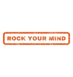 Rock Your Mind Rubber Stamp vector