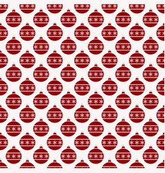 seamless pattern with christmas ball background vector image