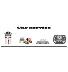 Set mechanical services of car vector