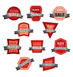set of ten black friday sale badges vector image