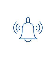 signaling line icon concept signaling flat vector image