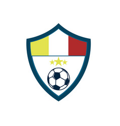 Soccer fever concave shield footbal club emblem vector
