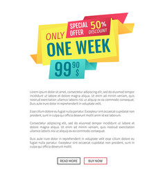 Special offer commerce and promotion landing page vector