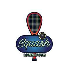squash logo with text space for your slogan vector image