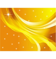 star abstraction on a yellow background vector image