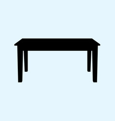table isolated on ligth blue vector image