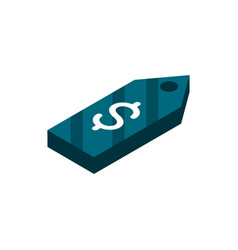 tag price offer online shopping isometric icon vector image