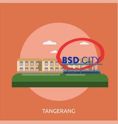 Tangerang city of indonesia conceptual design vector