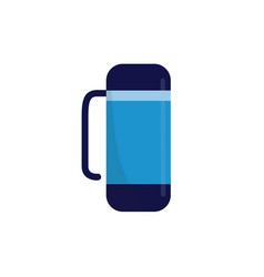 thermo cup or thermo flask for hot beverages flat vector image