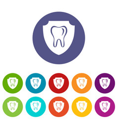 tooth protection icon simple style vector image