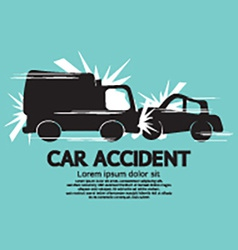 Truck And Car In An Accident vector image