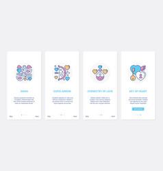 Wedding love and romance symbols for invitation ui vector