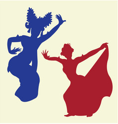 Traditional dance 1 vector image vector image