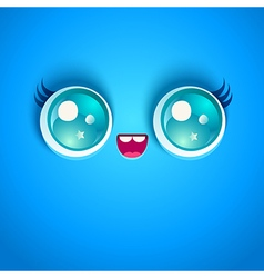 blue face vector image vector image