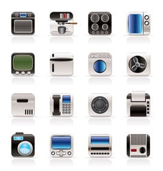 home and office equipment icons vector image vector image