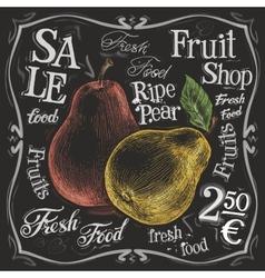 ripe pear logo design template fresh vector image vector image