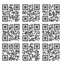 Sample QR Code Ready to Scan with Smart Phone vector image