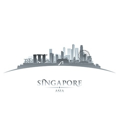 Singapore city skyline silhouette vector image vector image