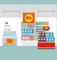 supermarket store consumerism concept vector image