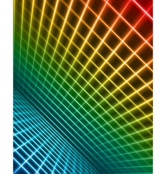 virtual space with light wire lines vector image vector image