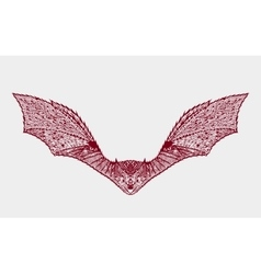 Zentangle stylized bat Sketch for tattoo or t vector image vector image