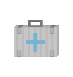 kit first aid cross emergency medical vector image vector image