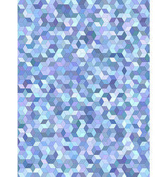 Light blue 3d cube mosaic background design vector image vector image