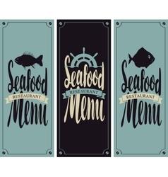 menu for seafood restaurant vector image