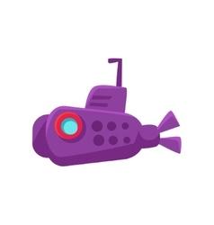Purple Submarine Toy Boat vector image vector image