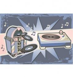 gramophone graphic vector image