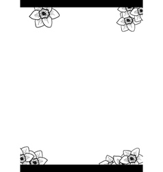 narcissus flower hand drawn vector image