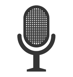 Radio microphone isolated flat icon vector image vector image
