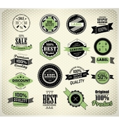 Set of vintage retro label vector image