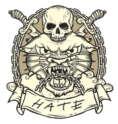 Wild Tattoo vector image vector image