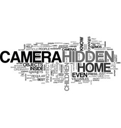 A hidden camera to protect your home text word vector