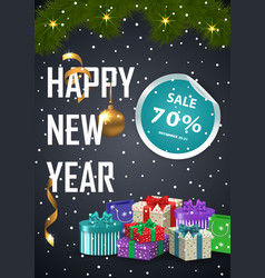 Advertisement poster christmas sale vector