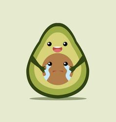 avocado love vector image