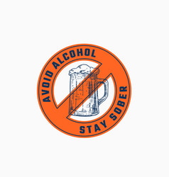 Avoid alcohol abstract sign symbol or logo vector