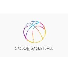 Basketball ball logo sport ball logo vector