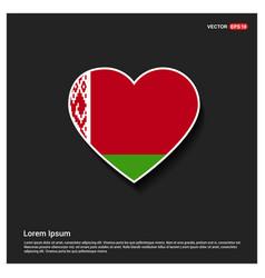 belarus flag design vector image
