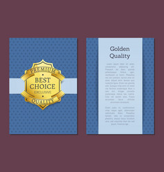 Best choice exclusive quality product gold label vector