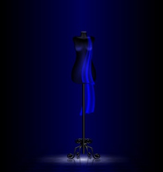 Black craft dummy in the dark room vector