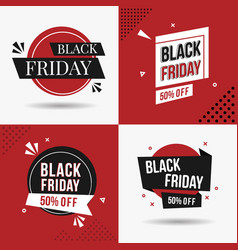 Black friday sale banner red and awesome vector