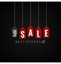 Black friday sale tags on background vector